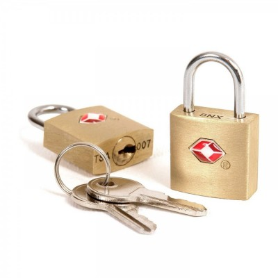 Golden - Lewis'n Clark Mini Pad Lock Set