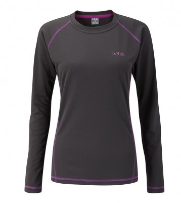 Anthracite - Rab DryFlo LS Top 120 Wmns