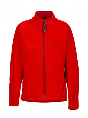TEAM RED - Marmot Boy`s Lassen Fleece