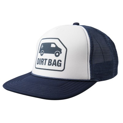 Captain/White - Black Diamond Flat Bill Trucker Hat