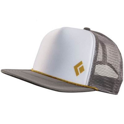 Granite/White - Black Diamond Flat Bill Trucker Hat