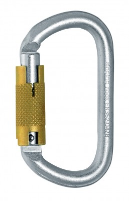 Singing Rock Oval Carabiner Steel Triplelock