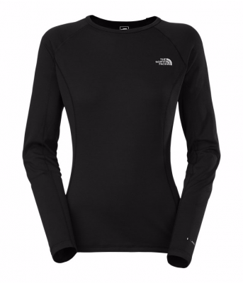 TNF Black - The North Face W Warm Long-Sleeve Crew Neck