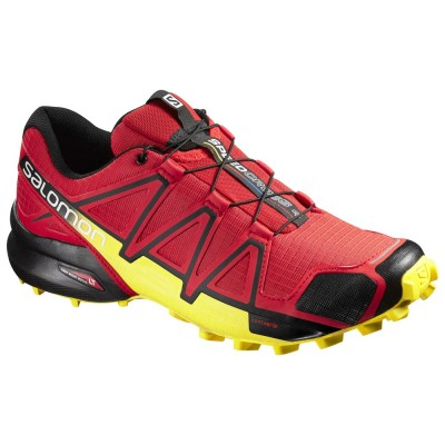 Radiant Red / Black / Corona Yellow - Salomon Speedcross 4