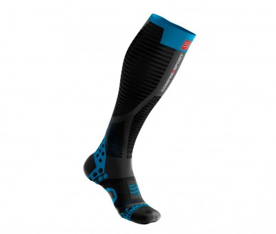 Black - Compressport Full Socks Ultralight Racing