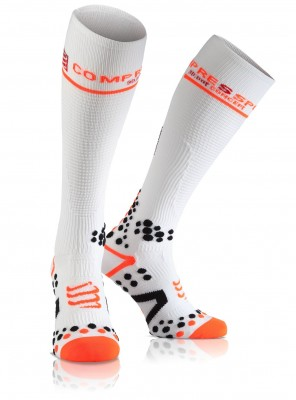 White - Compressport FullSocks v2.1