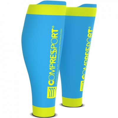 FLUO BLUE - Compressport Calf R2 v2