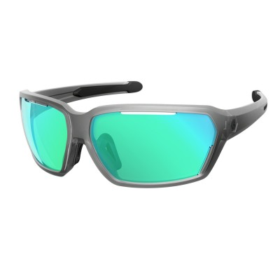 Clear Matt/Blue/Blue Chrome Amplifier - Scott Sunglasses Vector