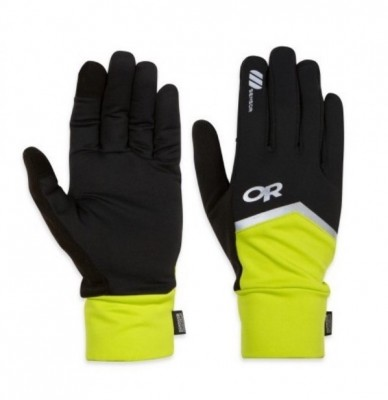 BLACK / LEMONGRASS - Outdoor Research Speed Sensor Gloves