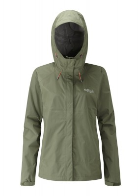 Field Green - Rab Downpour Jacket wmns