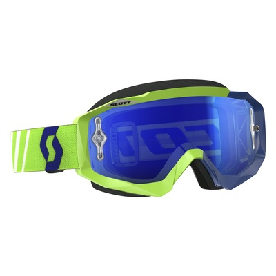 green/blue/electric blue chrome works - Scott Goggle Scott Hustle MX