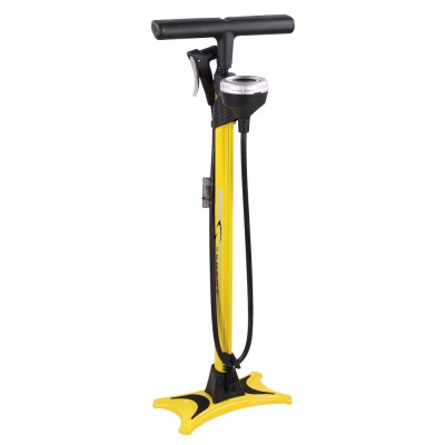 BLACK/yellow - Serfas FP-200 Floor Pump W/Simple Valve