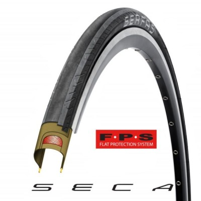 Serfas Seca Tire W/Fps - 700 X 25 Wire Bead