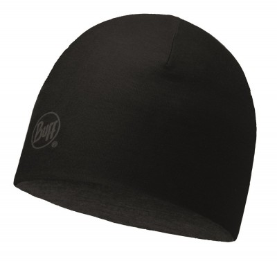 Solid Black - Buff® Merino Wool Reversible Hat Buff®