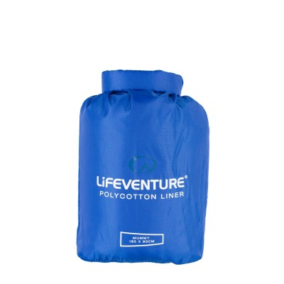 Lifeventure Cotton Sleeping Bag Liner, Anti-bac, Mummy