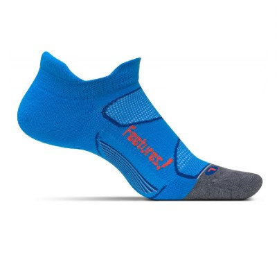 BRIGHT BLUE/LAVA - Feetures Elite Max Cushion No Show Tab