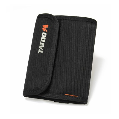 Black - Tatoo Flap Wallet