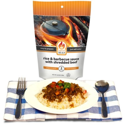 Rice And Barbecue Sauce W/Beef - Campfire Meals Rice And Barbecue Sauce W/Beef 2P