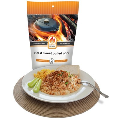 Campfire Meals Rice & Sweet Pulled Pork 2P