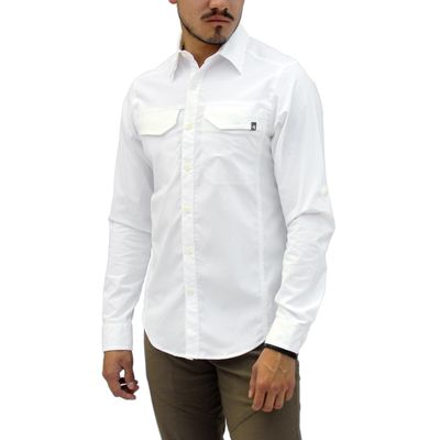 Blanco - Tatoo Camisa ML Creek Hombre