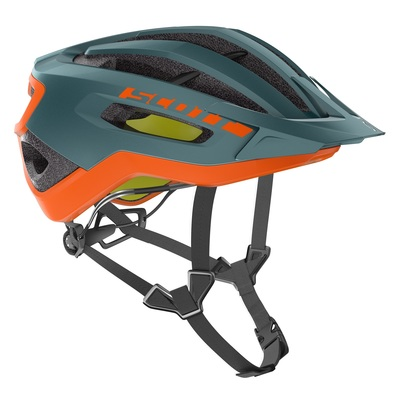 Cobalt Green/Orange - Scott Helmet Fuga PLUS rev (CE)