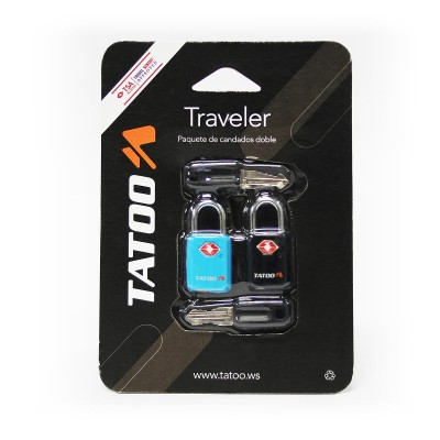 Tatoo Candados Traveler (2 Pack)