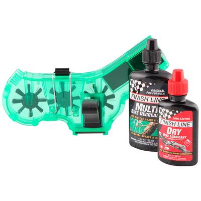 Finish Line Shop Quality Chain Cleaner Kit - 4oz Degreaser & 2oz Lube
