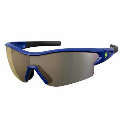 Blue Gold Chrome + Clear - Scott Sunglasses Leap