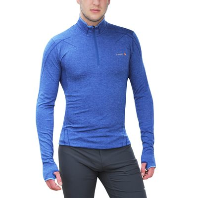 Blue Melange - Tatoo Half Zip Men Sphere