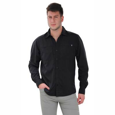 Black - Tatoo Camisa ML Cruise Hombre