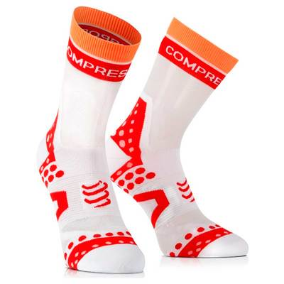 White Red - Compressport Pro-Racing Socks Bike Ultralight