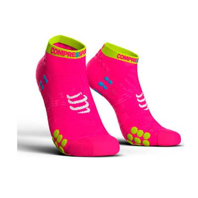 ROSADO - Compressport Calcetín RUN LO V3