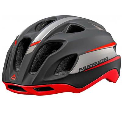silver/red - Merida Bikes Team Race Helmet