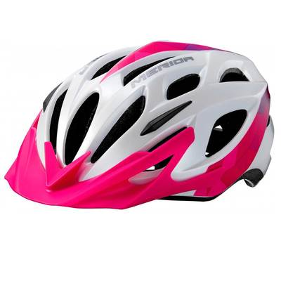 White/Pink/Purple - Merida Bikes Charger Helmet