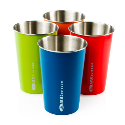 4 Colors - GSI Stainless Pint Set