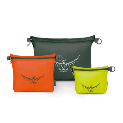 Lime/Orange/Grey - Osprey UL Zipper Sack Set