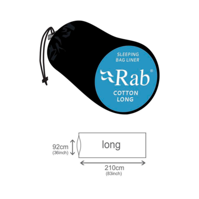 Medidas - Rab Cotton Long S/bag Liner
