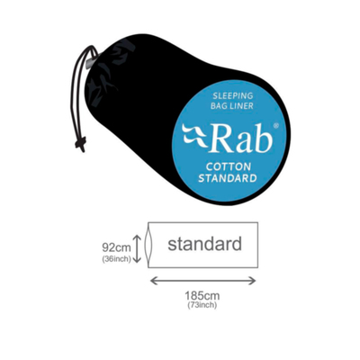 Dimensiones - Rab Cotton Standard S/Bag Liner
