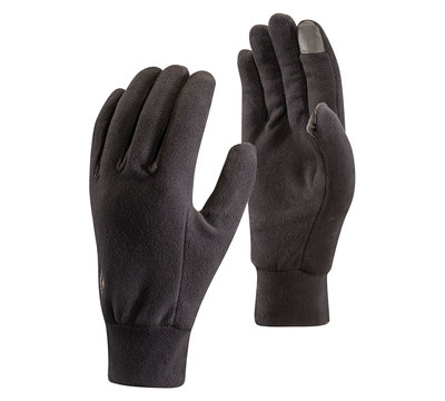 Black - Black Diamond Lightweight Fleece Gloves