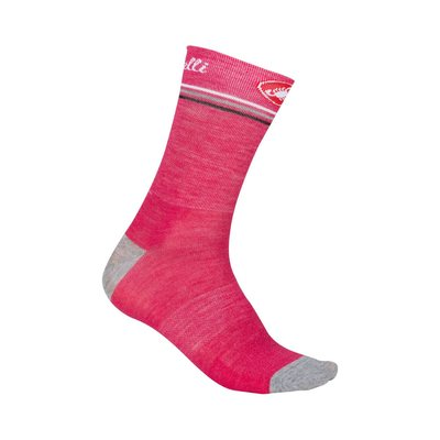 Raspberry/Grey - Castelli Atelier 13 Sock