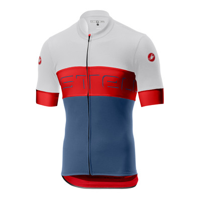 Ivory/Red/Light S Blue - Castelli Prologo Vi Jersey