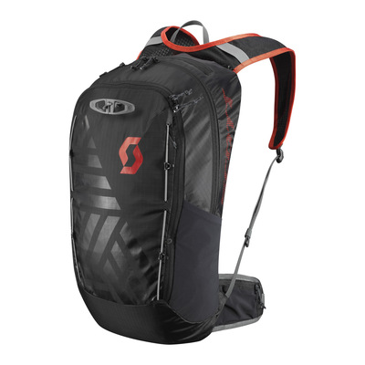 Caviar Black/Fiery Red - Scott Pack Trail Lite FR` 22