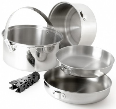 GSI Glacier Stainless Cookset Lg