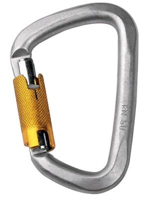 Singing Rock D Carabiner Steel Triple Lock 50kn