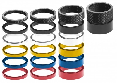 RavX HEADSET SPACERS 8PC BOX, 10MM CARBON