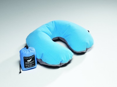 Light-Blue/Grey - Cocoon Ultralight Air Core Travel Neck Pillow