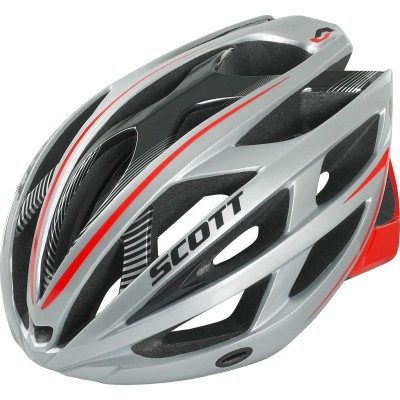 SILVER/RED - Scott Helmet  Wit-R