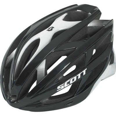 BLACK/WHITE - Scott Helmet  Wit-R