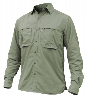 OIL GREEN - Tatoo Camisa Puyehue ML Hombre