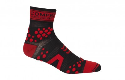 Black/Red - Compressport Pro-Racing Socks V2 - BIKE
